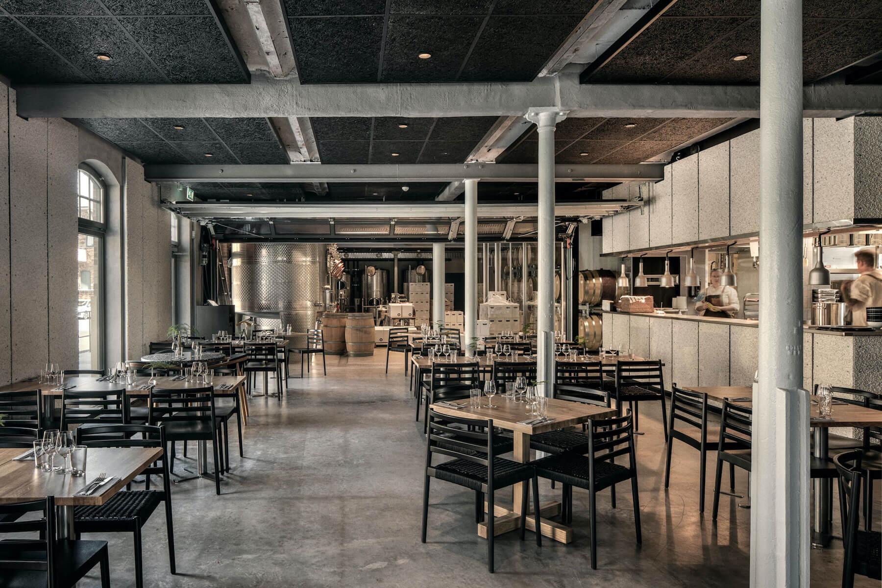 Wine mechanics restaurant seating arrangement